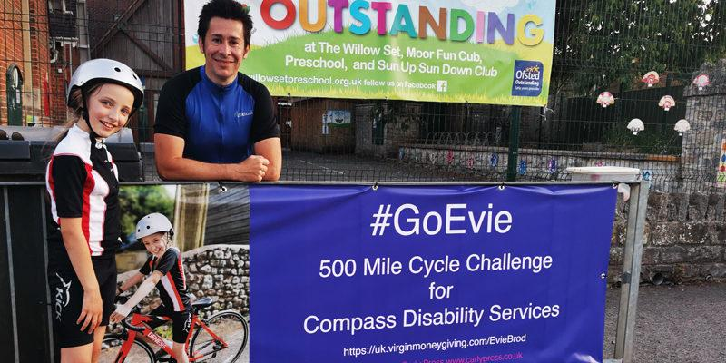 10 year old Evies 500 mile bike ride for Compass