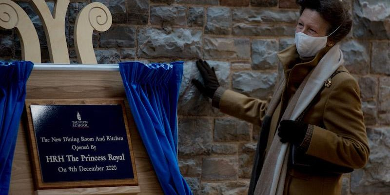 4 The Princess Royal unveils plaque in new dining room