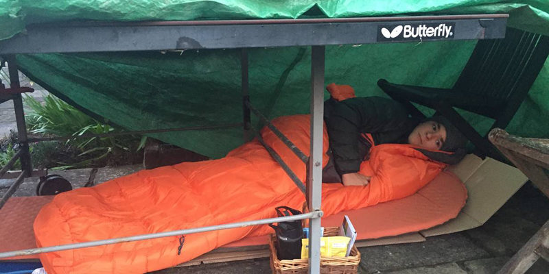 ARC Big Sleep Out supported by Kings College Taunton