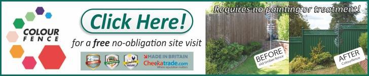 Colour Fence Advert Landscape