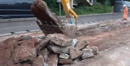 Creech Castle roadworks UPDATE