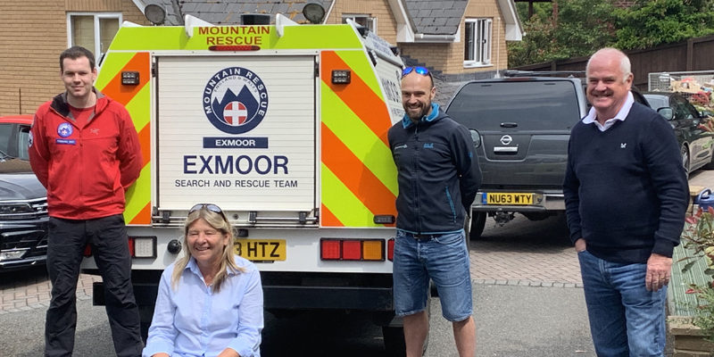 Donation of £1100 given to Exmoor Search and Rescue