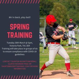 taunton uskets baseball training in 2021