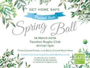 Get Home Safe Spring Ball Web Advert
