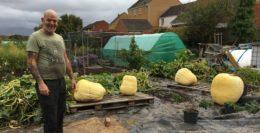 Giant pumpkin grower John Murphy from Taunton