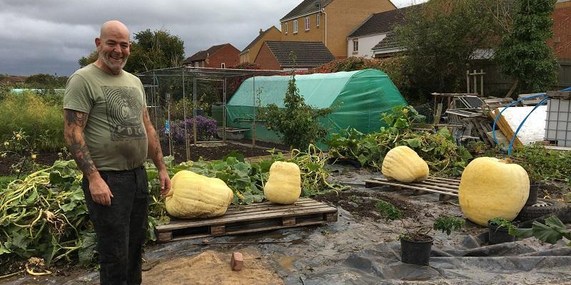 Giant pumpkin grower John Murphy from Taunton