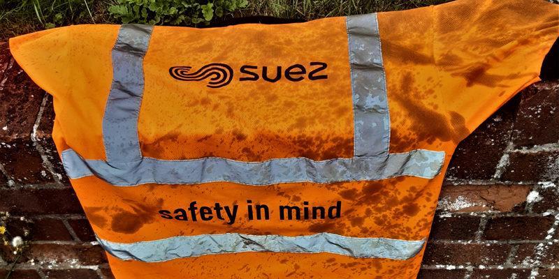 Hazardous waste warning as Taunton crew member has lucky escape