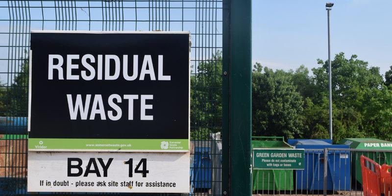 Residual Waste Site sign