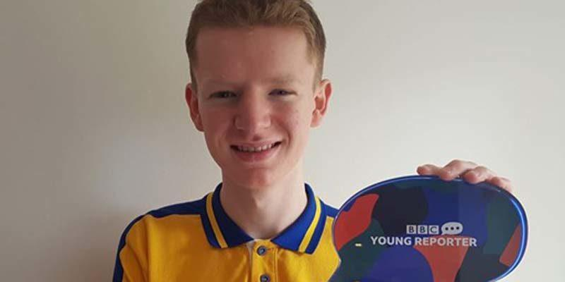 Richard Huish student wins BBC Young Reporter of the Year award