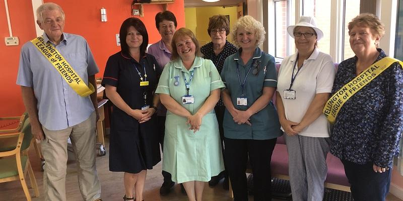 Staff and League of Friends at Wellington Hospital