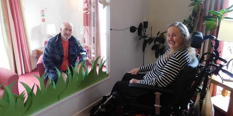 Staying connected with relatives in a care home