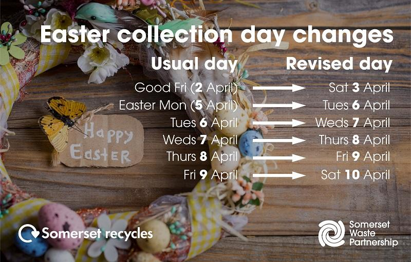 easter waste collections in taunton