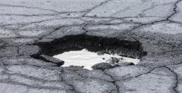 pothole repairs in crescent car park