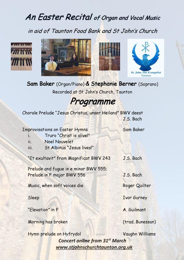 St Johns Church Taunton Easter programme 2021