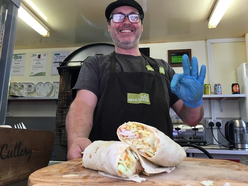 restaurant in Taunton spud shack taunton best wrap in town 3
