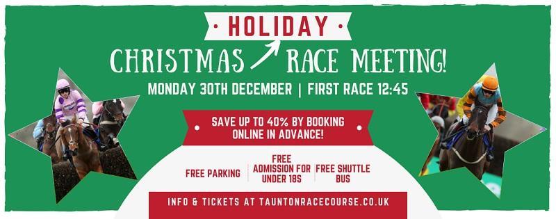 taunton racecourse festivities banner