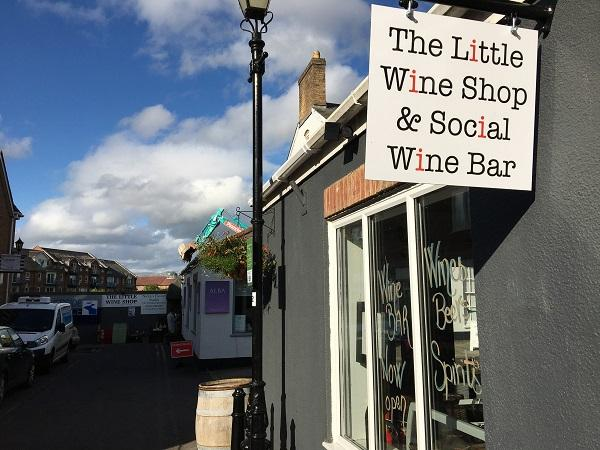 the littel wine shop and social sign