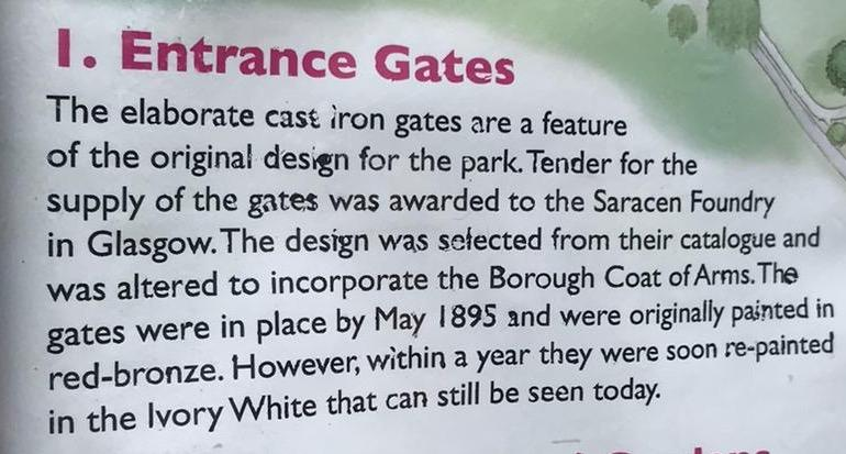 vivary park gates history